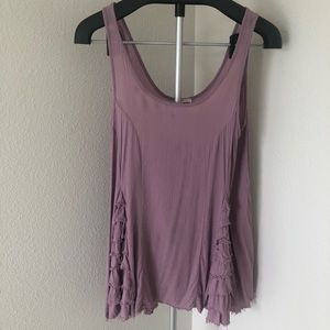 Free People Intimately hip ruffle tank top